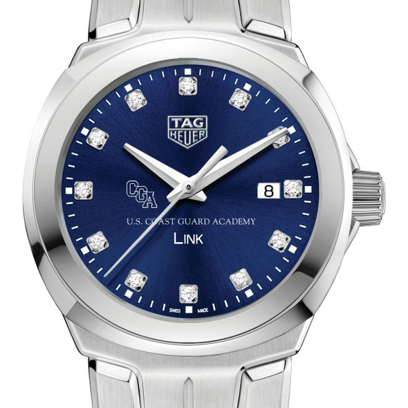 US Coast Guard Academy Women's TAG Heuer Link with Blue Diamond Dial
