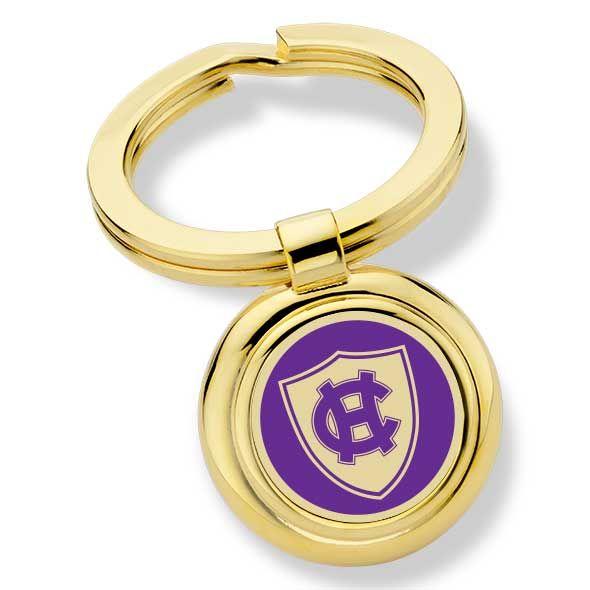 Holy Cross Enamel Key Ring