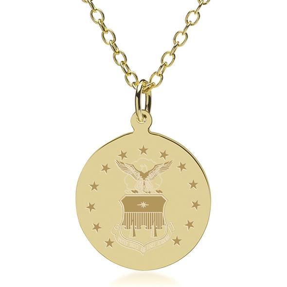 USAFA 18K Gold Pendant & Chain - Image 2