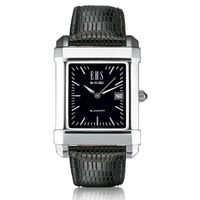 Men's Black Quad Watch with Leather Strap