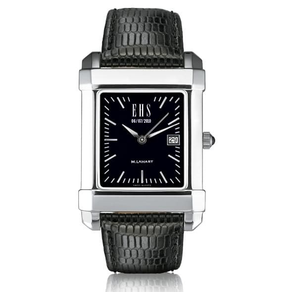 Men's Black Quad Watch with Leather Strap - Image 1