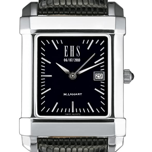Men's Black Quad Watch with Leather Strap - Image 2