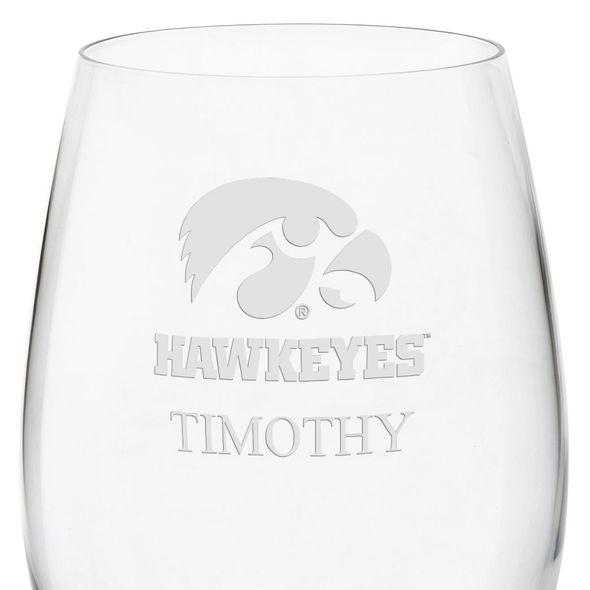 University of Iowa Red Wine Glasses - Set of 2 - Image 3