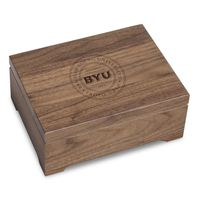 Brigham Young University Solid Walnut Desk Box