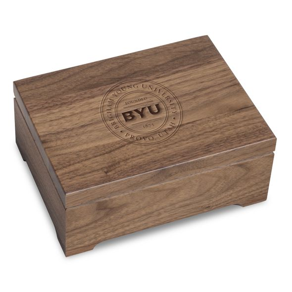 Brigham Young University Solid Walnut Desk Box - Image 1
