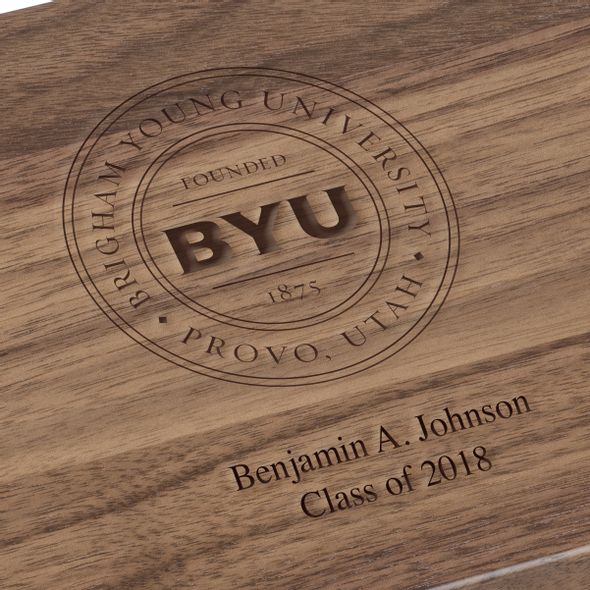 Brigham Young University Solid Walnut Desk Box - Image 3