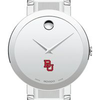 Boston University Men's Movado Sapphire Museum with Bracelet