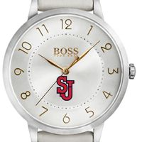 St. John's University Women's BOSS White Leather from M.LaHart