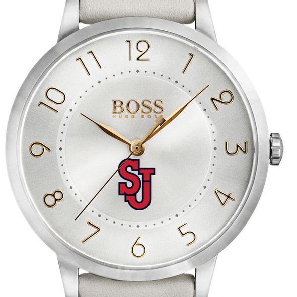 St. John's University Women's BOSS White Leather from M.LaHart