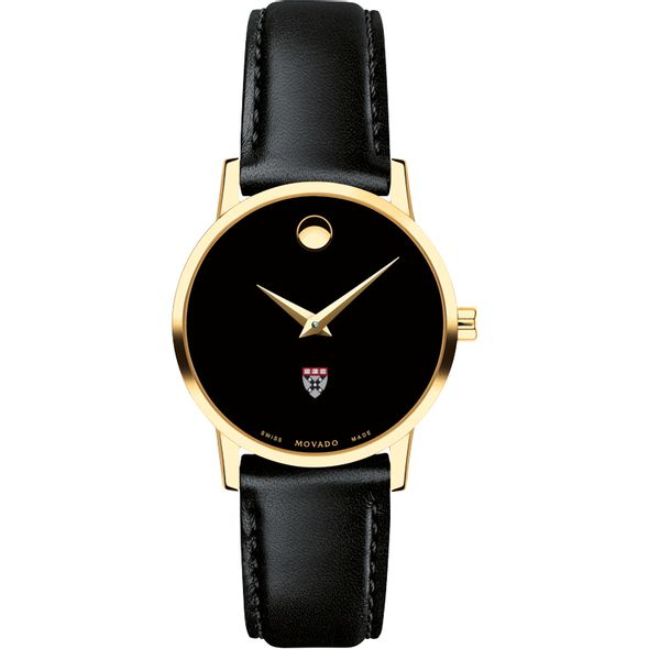 Harvard Business School Women's Movado Gold Museum Classic Leather - Image 2