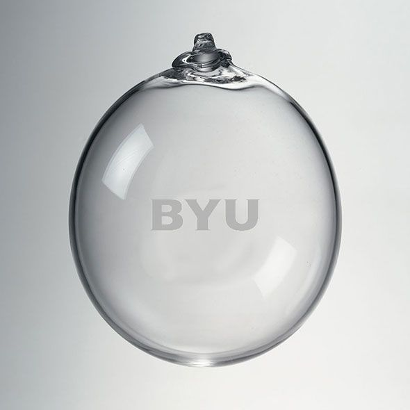 Brigham Young University Glass Ornament by Simon Pearce