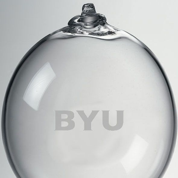 Brigham Young University Glass Ornament by Simon Pearce - Image 2