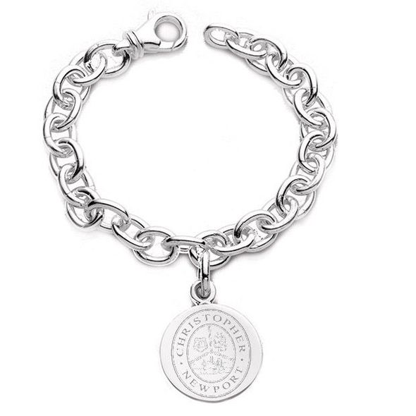 Christopher Newport University Sterling Silver Charm Bracelet