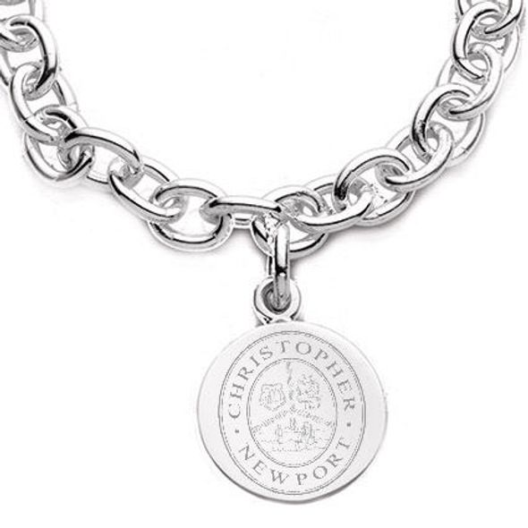 Christopher Newport University Sterling Silver Charm Bracelet - Image 2