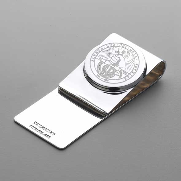 Davidson College Sterling Silver Money Clip