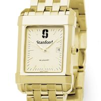 Stanford Men's Gold Quad Watch with Bracelet