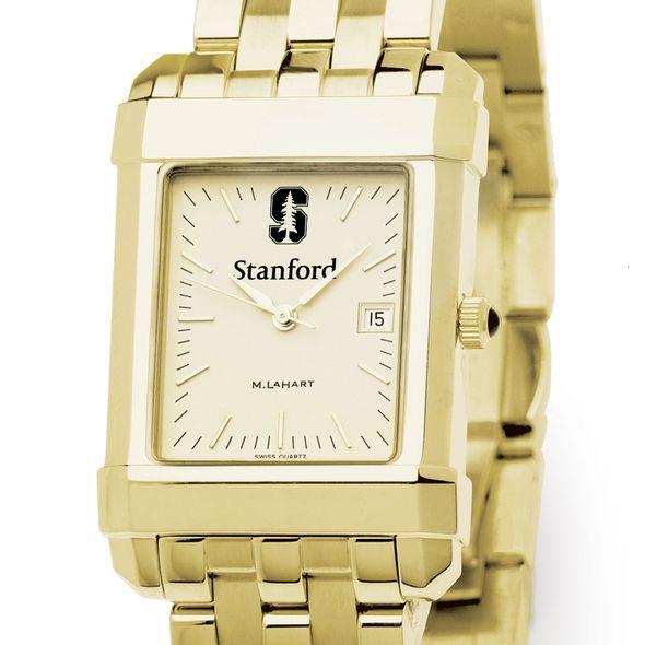 Stanford Men's Gold Quad Watch with Bracelet