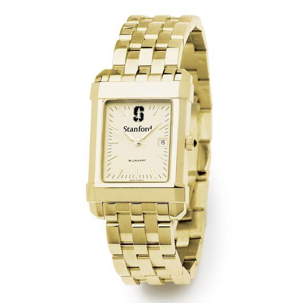 Stanford Men's Gold Quad Watch with Bracelet - Image 2