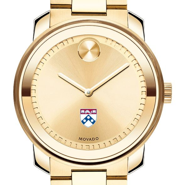 University of Pennsylvania Men's Movado Gold Bold