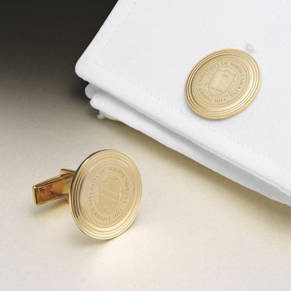 UNC 14K Gold Cufflinks - Image 1