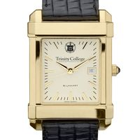 Trinity College Men's Gold Quad with Leather Strap