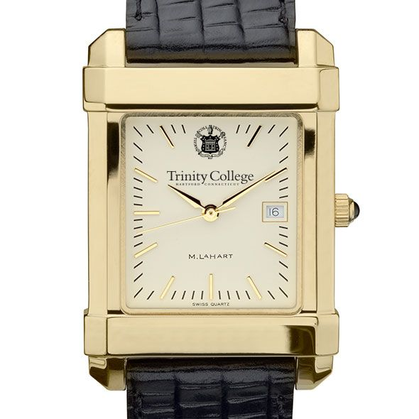Trinity College Men's Gold Quad with Leather Strap - Image 1