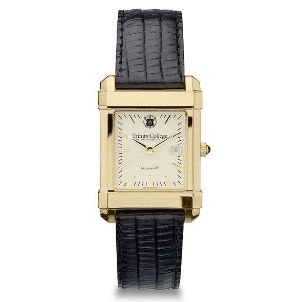 Trinity College Men's Gold Quad with Leather Strap - Image 2