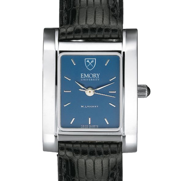 Emory Women's Blue Quad Watch with Leather Strap - Image 1
