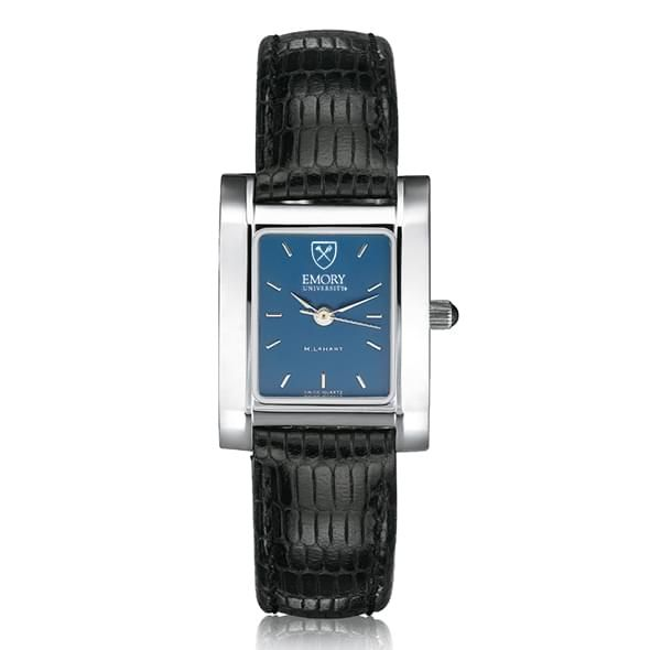 Emory Women's Blue Quad Watch with Leather Strap - Image 2
