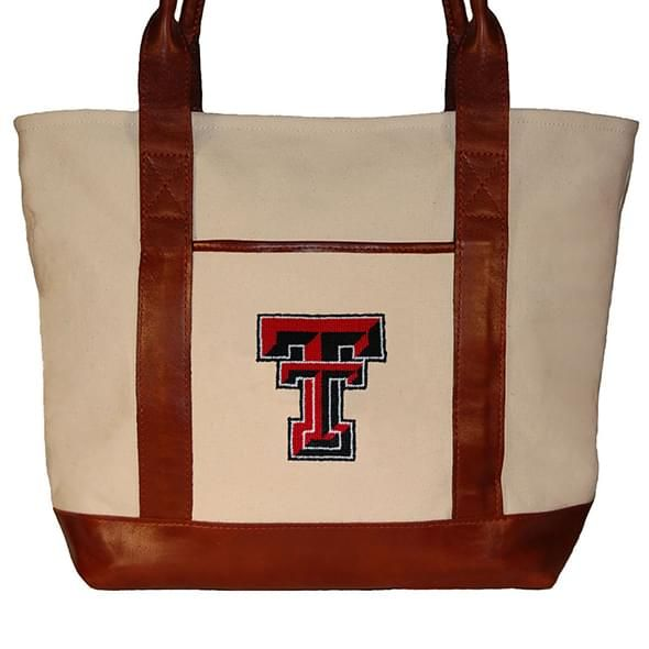 Texas Tech Needlepoint Tote - Image 2