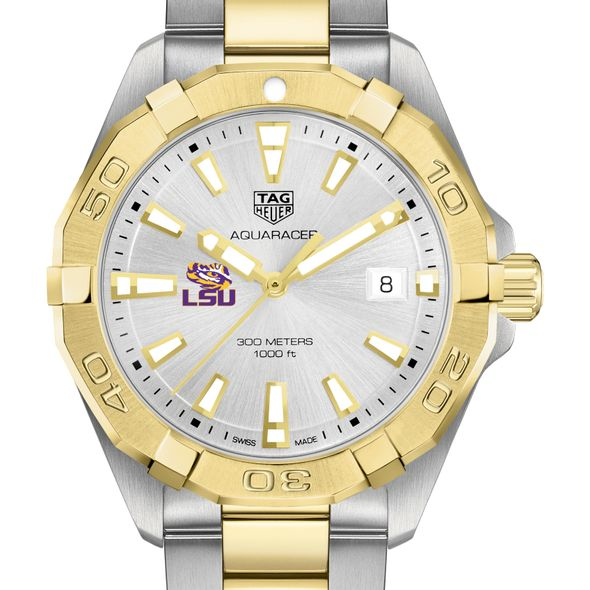 Louisiana State University Men's TAG Heuer Two-Tone Aquaracer