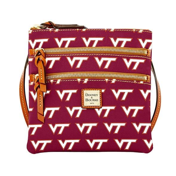 Virginia Tech  Dooney & Bourke Triple Zip Bag - Image 1