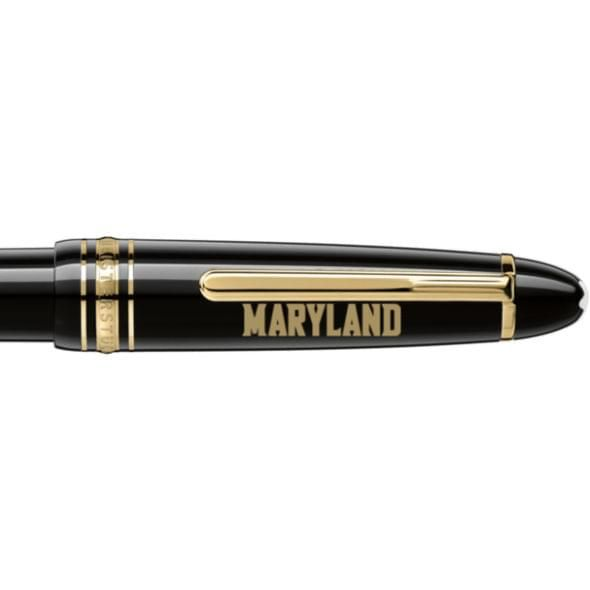 University of Maryland Montblanc Meisterstück LeGrand Ballpoint Pen in Gold - Image 2