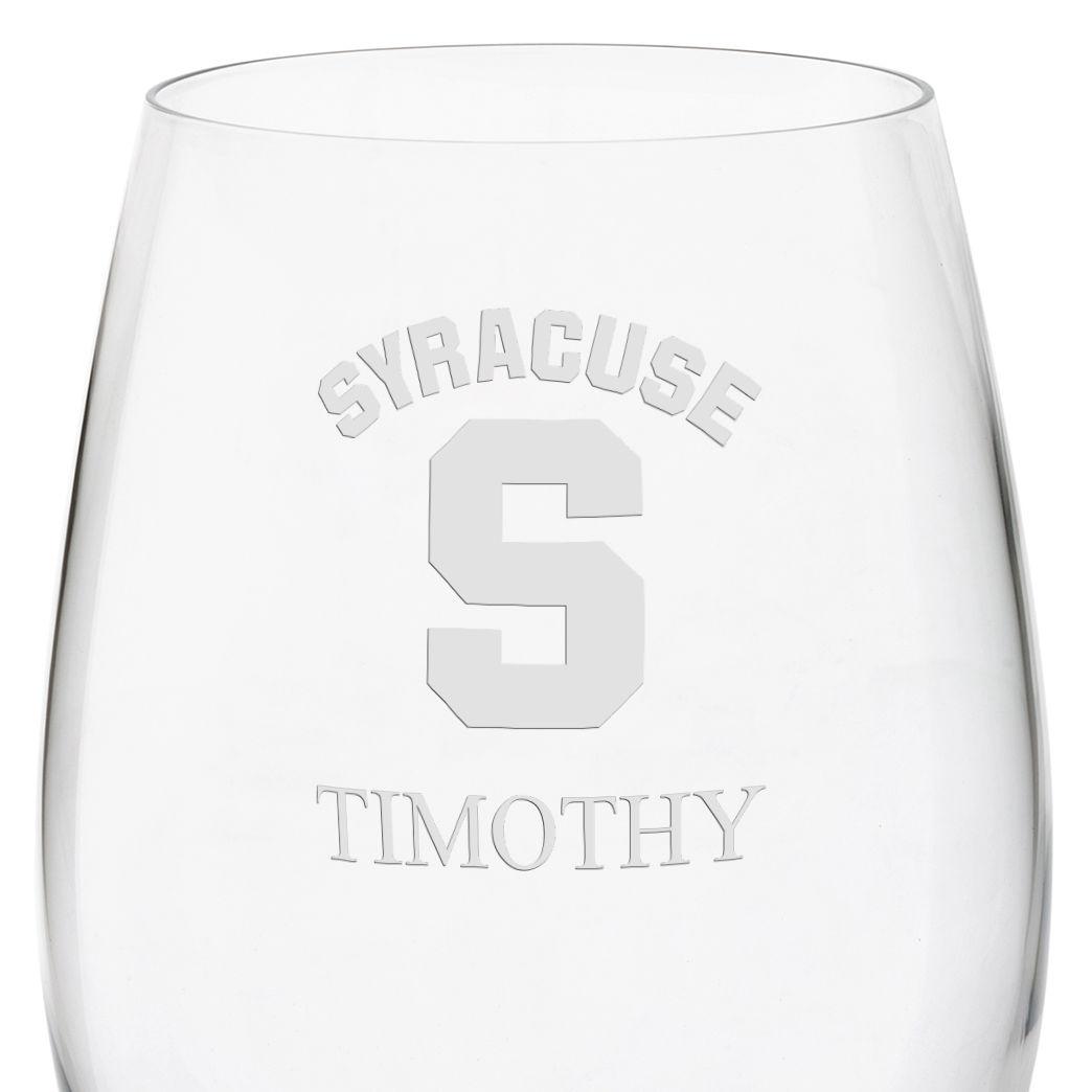 Syracuse University Red Wine Glasses - Set of 2 - Image 3