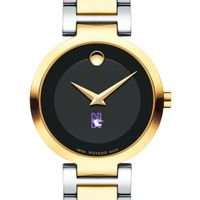 Northwestern University Women's Movado Two-Tone Modern Classic Museum with Bracelet