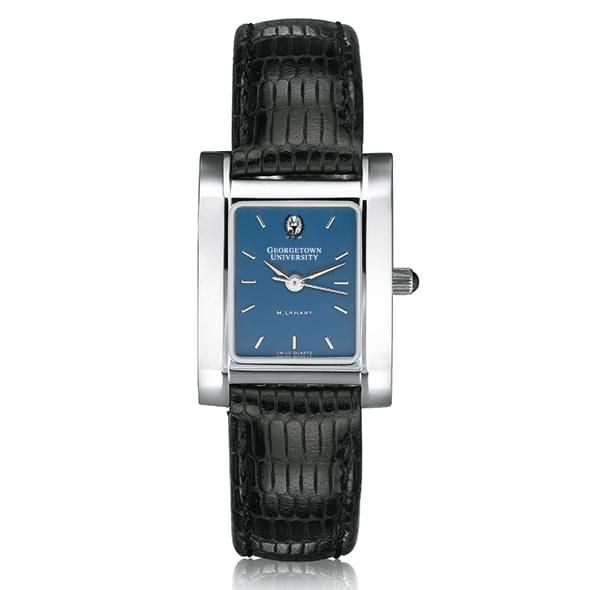 Georgetown Women's Blue Quad Watch with Leather Strap - Image 2