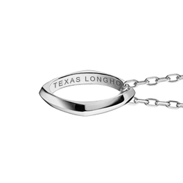 University of Texas Monica Rich Kosann Poesy Ring Necklace in Silver - Image 2