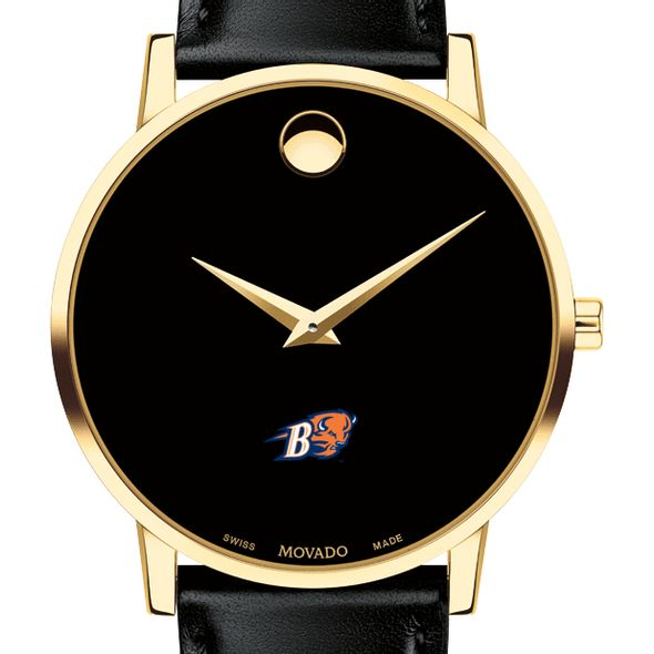 Bucknell University Men's Movado Gold Museum Classic Leather