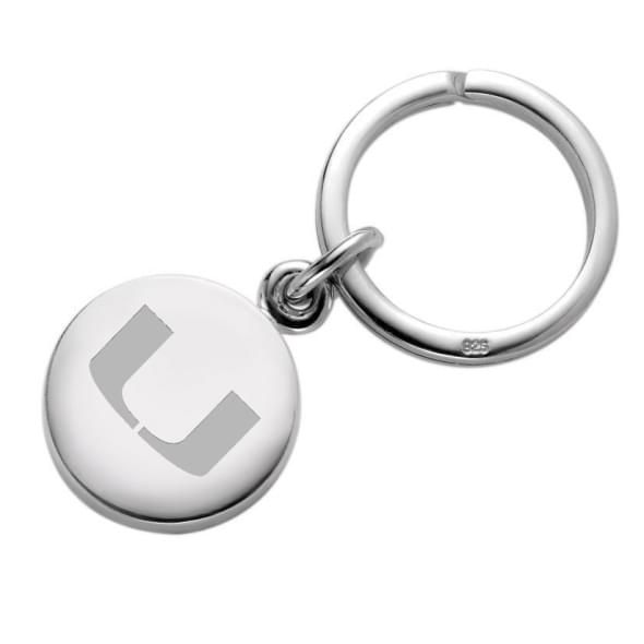 Miami Sterling Silver Insignia Key Ring - Image 1