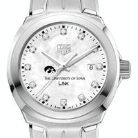 University of Iowa TAG Heuer Diamond Dial LINK for Women