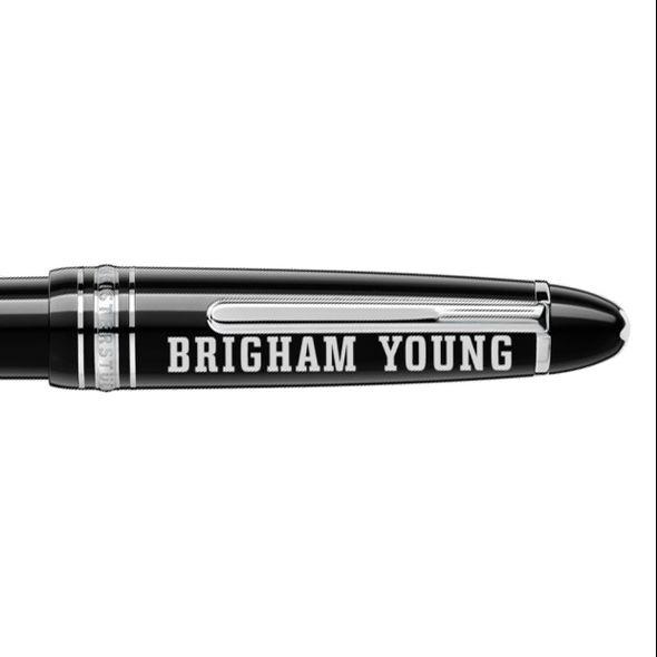 Brigham Young University Montblanc Meisterstück LeGrand Ballpoint Pen in Platinum - Image 2
