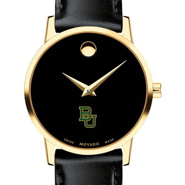 Baylor University Women's Movado Gold Museum Classic Leather