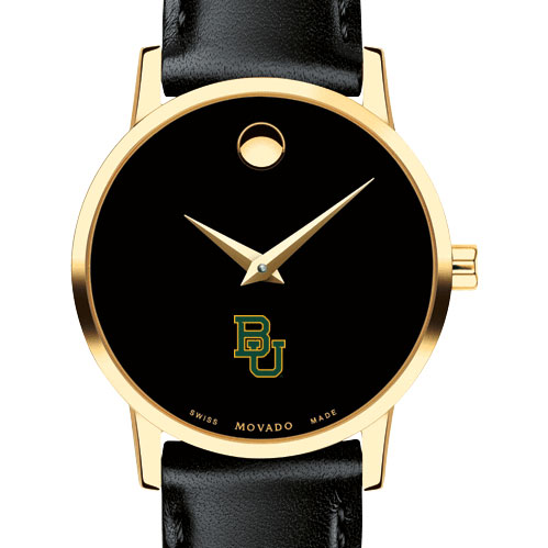 Baylor Women's Movado Gold Museum Classic Leather