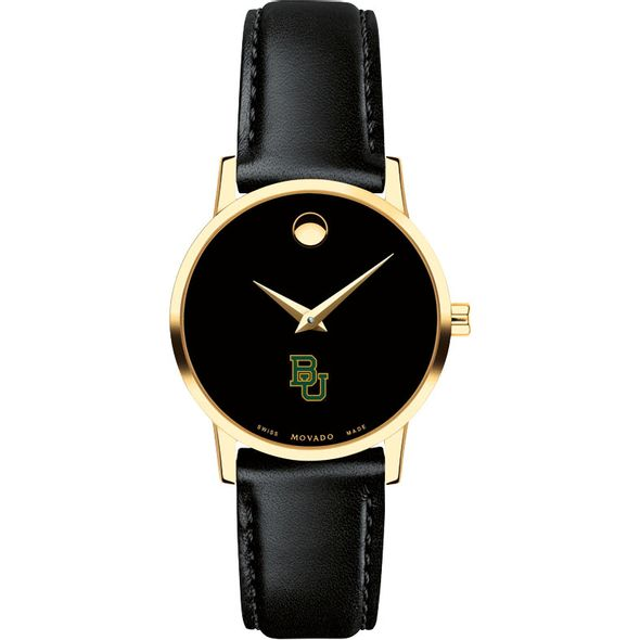Baylor University Women's Movado Gold Museum Classic Leather - Image 2