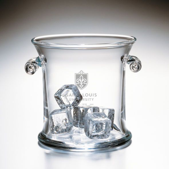 Saint Louis University Glass Ice Bucket by Simon Pearce