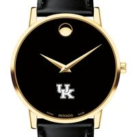 University of Kentucky Men's Movado Gold Museum Classic Leather