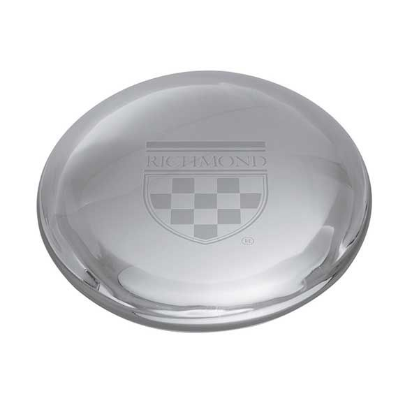 University of Richmond Glass Dome Paperweight by Simon Pearce - Image 1