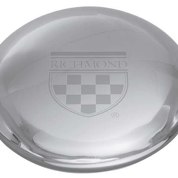 University of Richmond Glass Dome Paperweight by Simon Pearce - Image 2