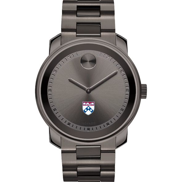 University of Pennsylvania Men's Movado BOLD Gunmetal Grey - Image 2