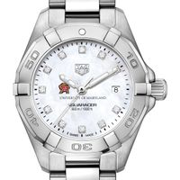 University of Maryland W's TAG Heuer Steel Aquaracer w MOP Dia Dial
